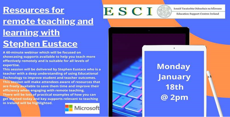 ESCI Resorces for remote teaching
