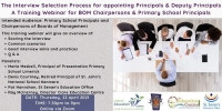 The Interview Selection Process for appointing Principals and Deputy Principals