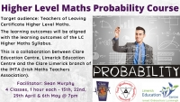 Higher Level Maths Probability Course: Series of 4 Sessions